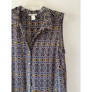 H&M Sheer Sleeveless Top Size Large
